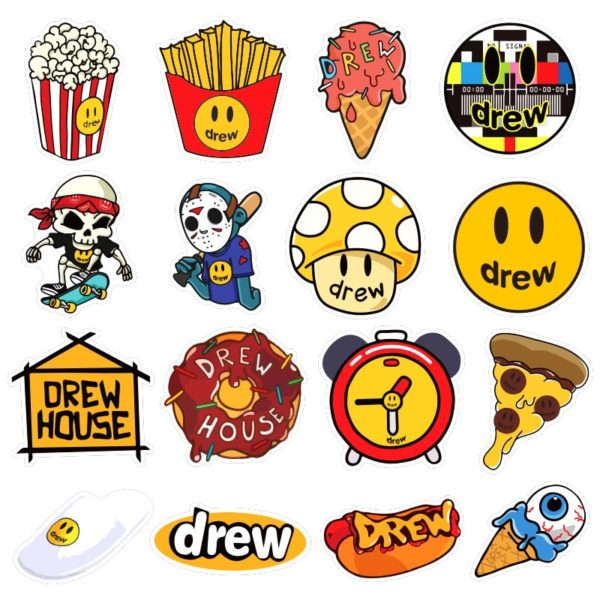 justin bieber drew stickers