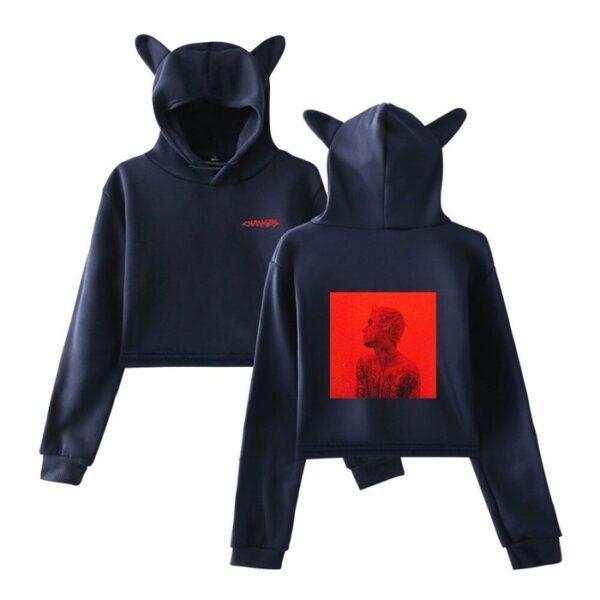 justin bieber cropped hoodie