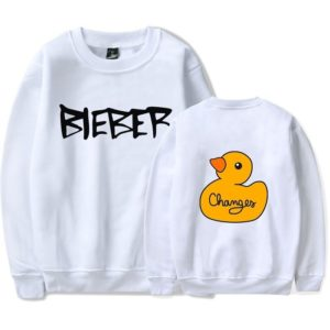 Justin Bieber Changes Sweatshirt #6