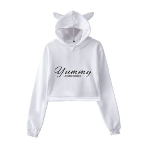 Justin Bieber Yummy Cropped Hoodie #2